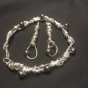Handcrafted Bracelet and Earrings